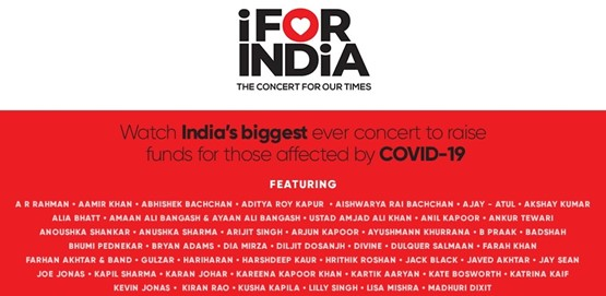 I For India the biggest concert Online